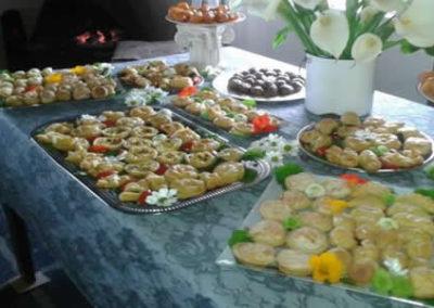 Prepared snacks at Desert Rose